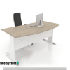 D Shape Office Table with J Metal Leg