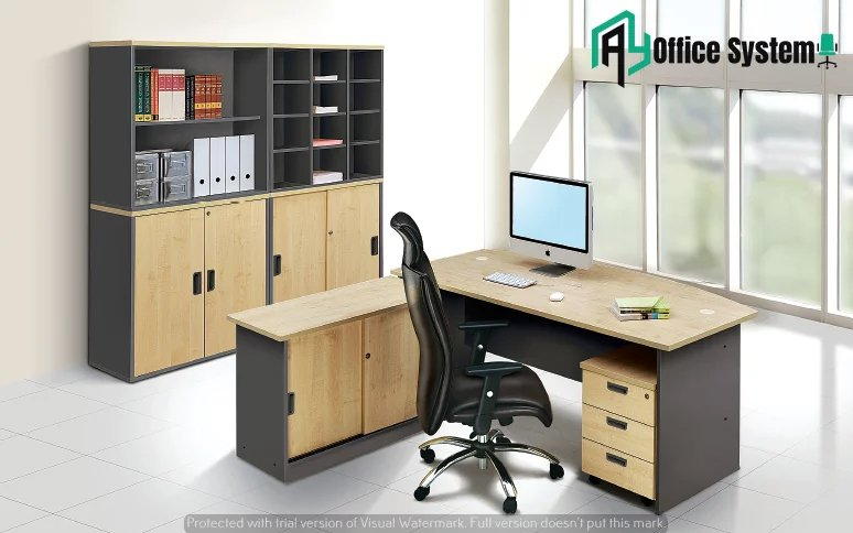 VGT 180 A - D Shape Office Table AY Office System