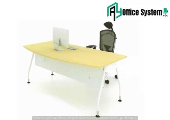 MMD 157-V - D Shape Office Table with V Metal Leg 1