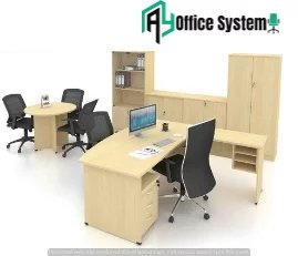 D Shape Office Desk