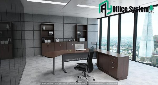VQB 180A - SET - 6 Feet Managerial Level Office Table AY Office System