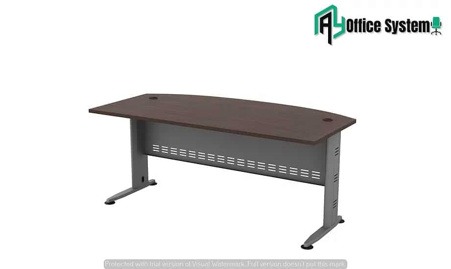 VQT 180 A - D Shape Office Table with J Metal Leg AY Office System