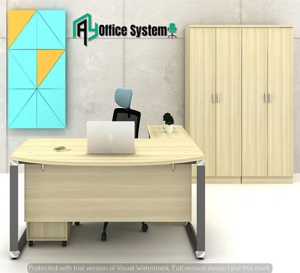 VOL 180A - SET - 6 Feet Managerial Level Office Table 1