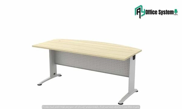 VBT 180 A - D Shape Office Table with J Metal Leg AY Office System
