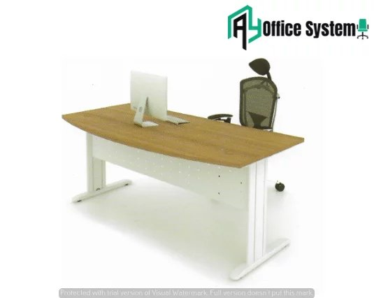 MMD 157-J - D Shape Office Table with J Metal Leg AY Office System