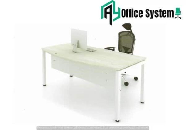 MMD 157-U - D Shape Office Table with U Metal Leg 1