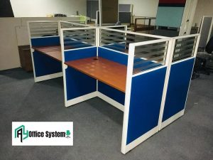 Rectangular Office Partition Workstation