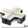 L Shape Partition Workstation