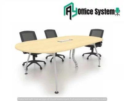 V Metal Leg Meeting Table