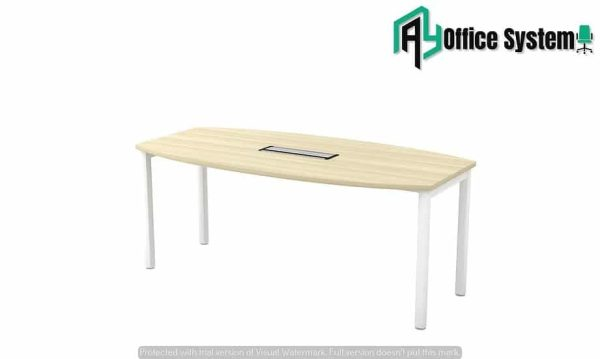 Boat Shape U Metal Leg Meeting Table