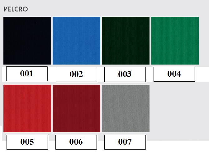 Velcro Color Chart