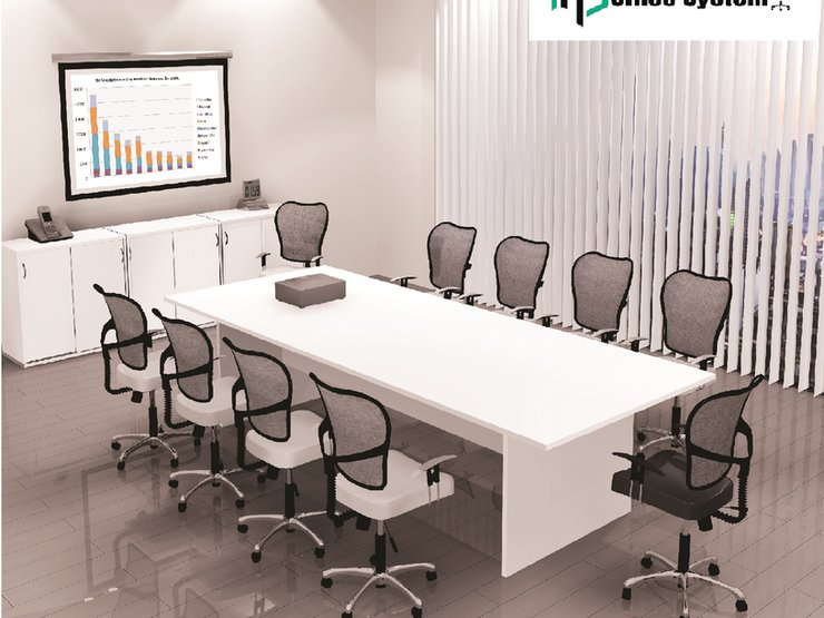 How to determine the size of meeting table based on the number of people? 6