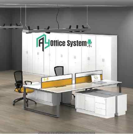 Modern Design L Shape Workstation