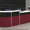 Reception Counter With Partition System Concept 3