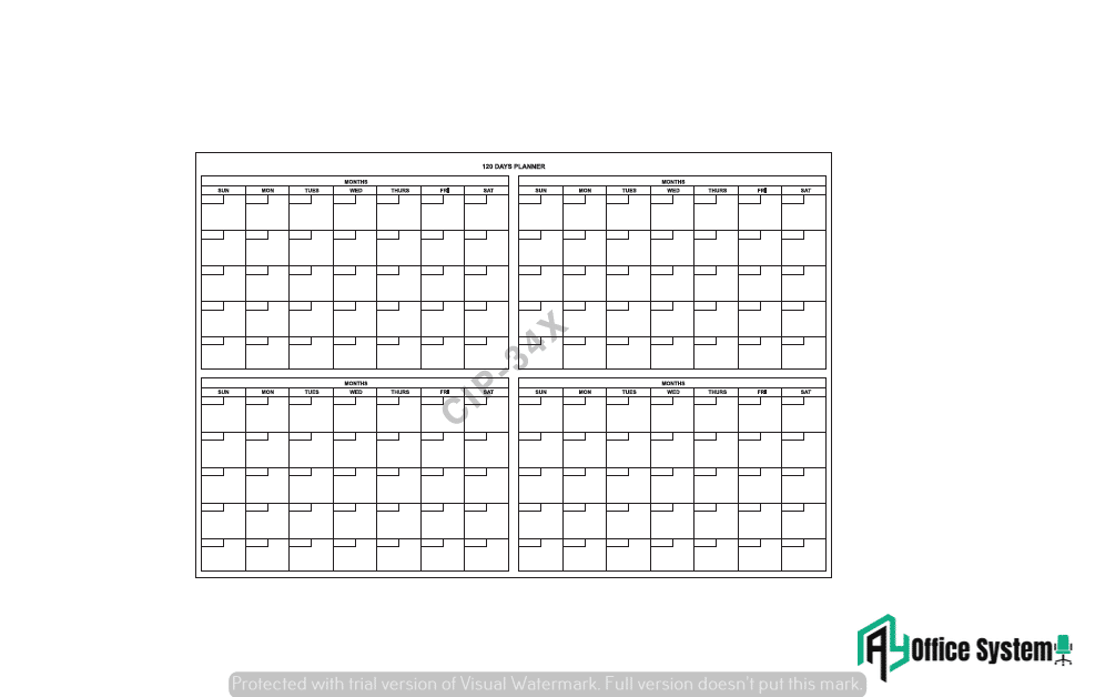 CIPX - 120 Days Planner AY Office System