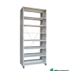 Double Side Library Rack With Side Panel