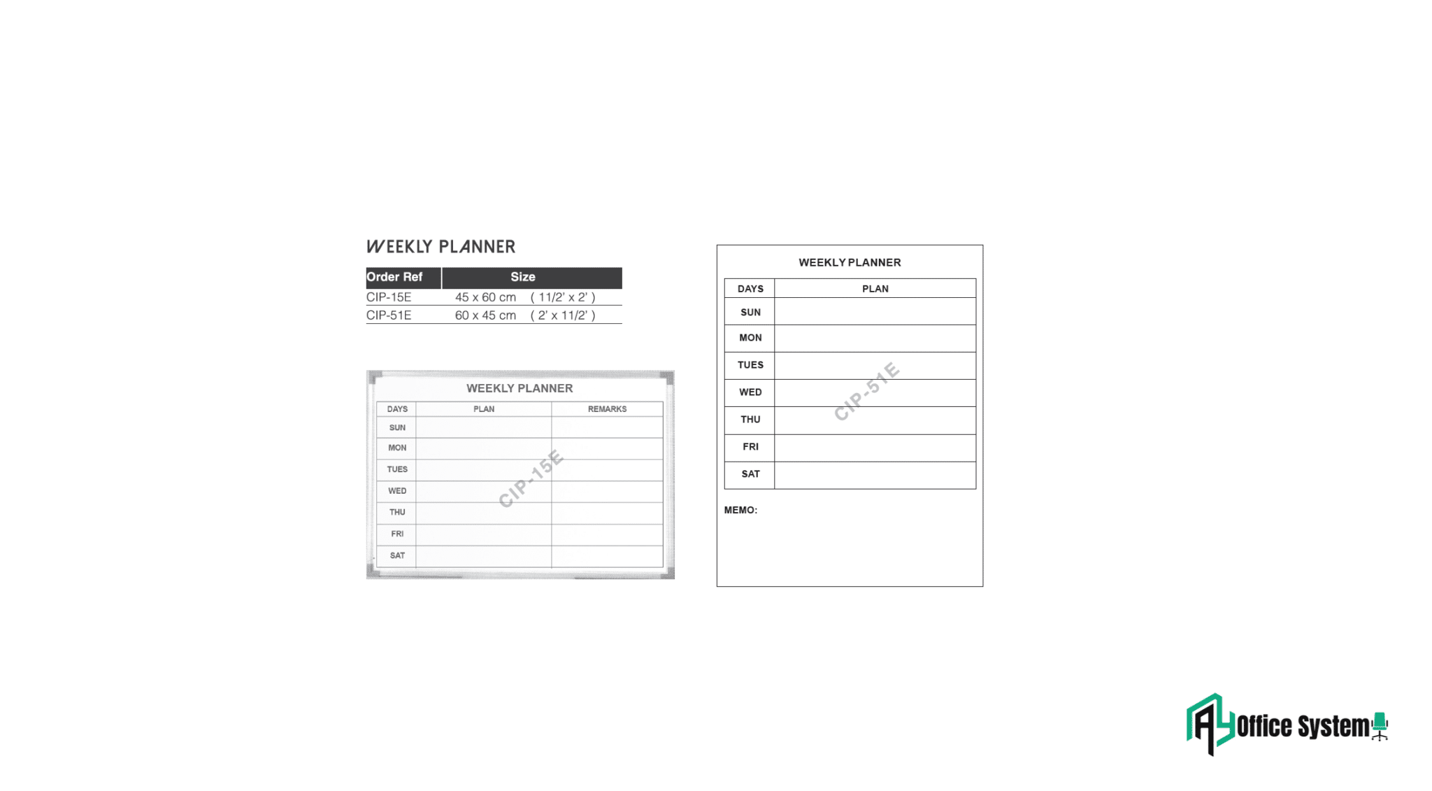 CIPE - Weekly Planner AY Office System