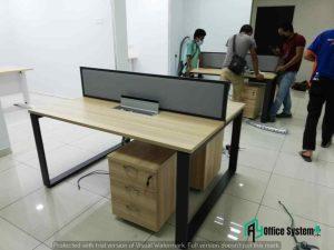 Rectangular Shape Office Partition Workstation